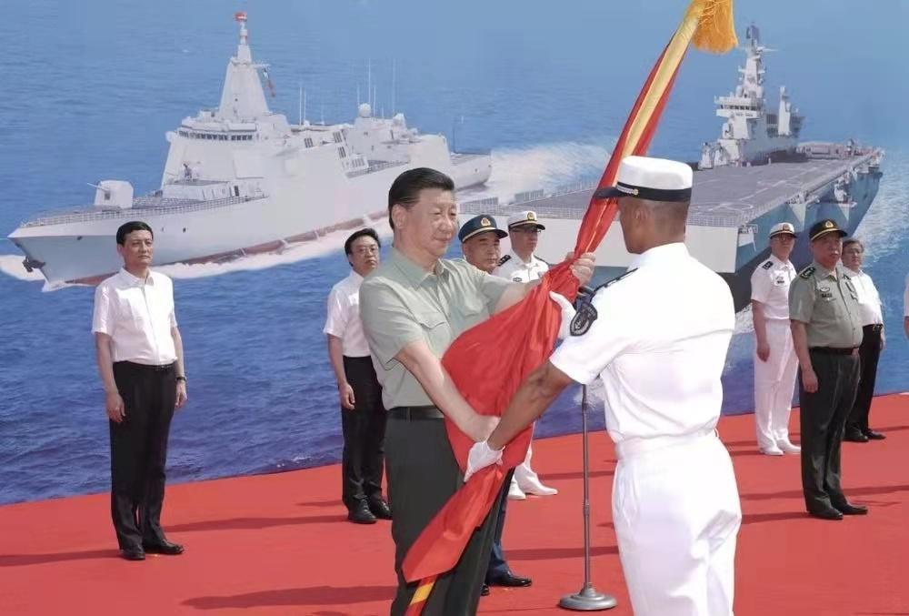 تحویل ۳ شناور مهم به نیروی دریایی چین با حضور رییس جمهور 📽️